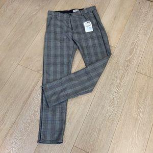 Zara kids NWT plaid pants size 13/14